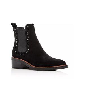 COACH Women's Bowery Pointed-Toe Block-Heel Bootie